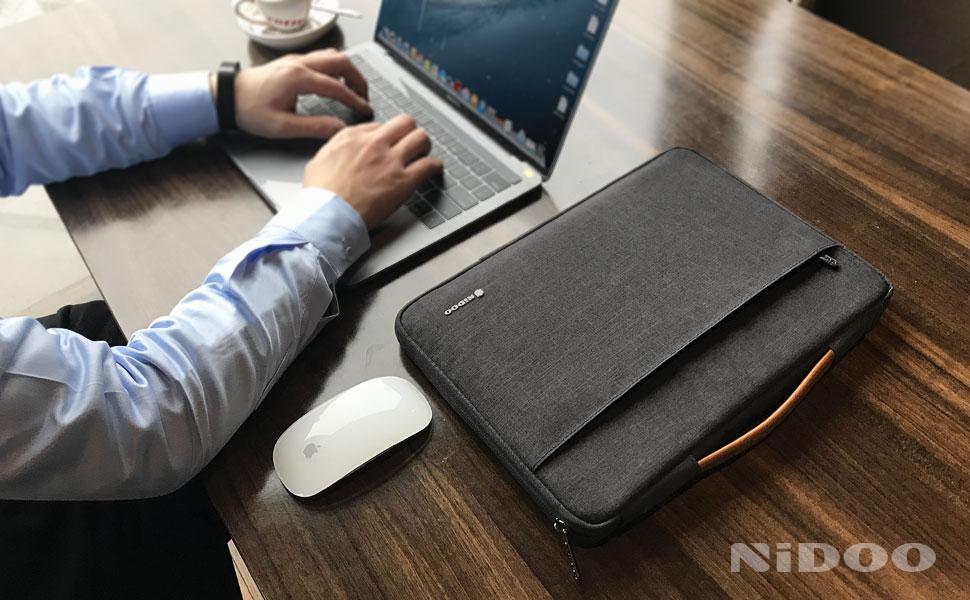 NIDOO 13 inch Laptop Sleeve case Notebook Bag Protective Handbag for 13