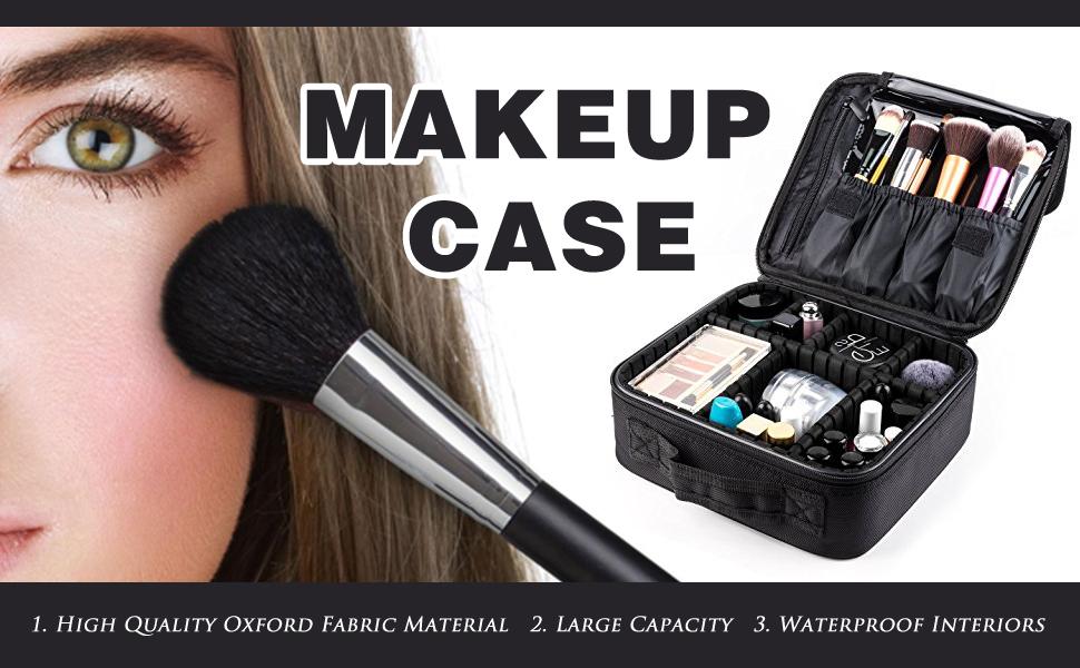 Amazon.com   Makeup Train Case,FORTECH Makeup Case Organizer ... 8048ba4e76