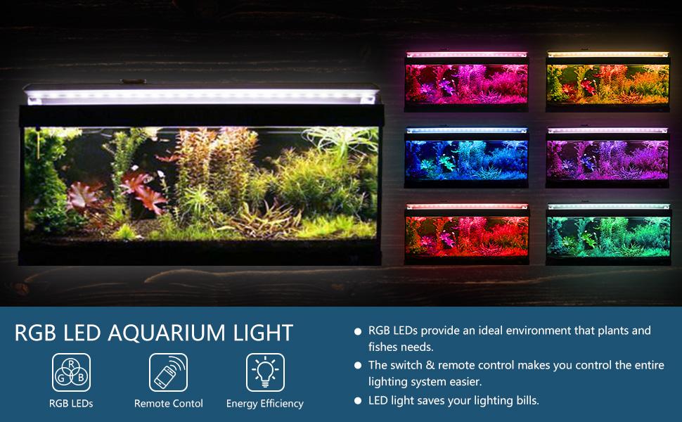 amazon com barrina 48 inch aquarium hood lighting color changing