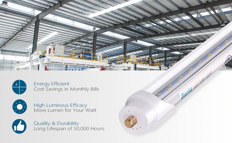 8 foot LED bulbs led lights 8 ft led light tubes 8ft Led Bulbs t12 led 8ftFluorescent Light Bulbs