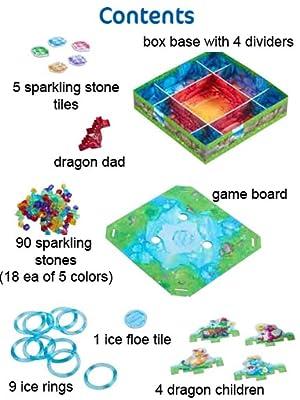 ice rings floe gems stones dragon dad children