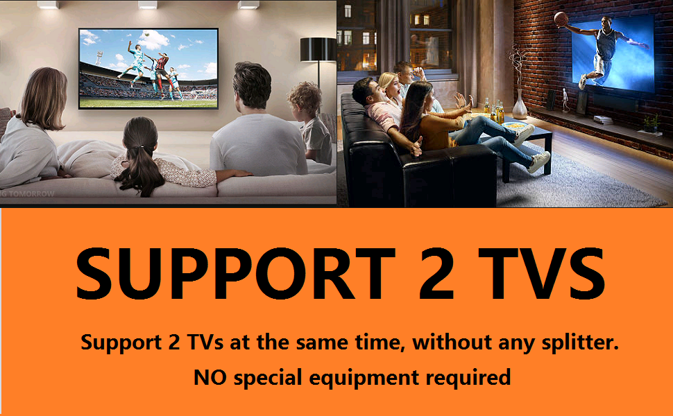 support 2 tvs 2