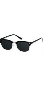 Polarized Sunglasses For Men Women Classic Half Frame Semi Rimless ANDWOOD Polarized Uv Protection …