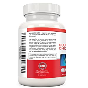 Gold Banner Glucosamine Chondroitin MSM Suggested Use