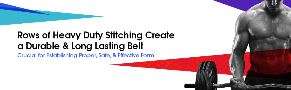 heavy duty stitching rows create a durable and long lasting belt crucial proper safe effective form