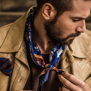 Italian silk twill men man neckerchief neck scarf square elegant ascot cravat twill Italy handmade