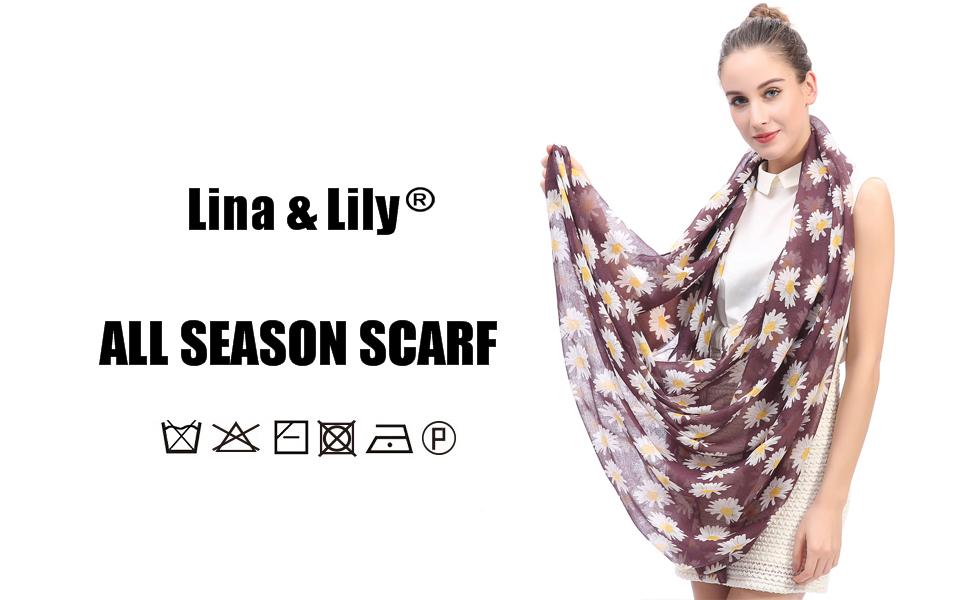 US Seller daisy flower infinity scarf Infinity Scarves for Women