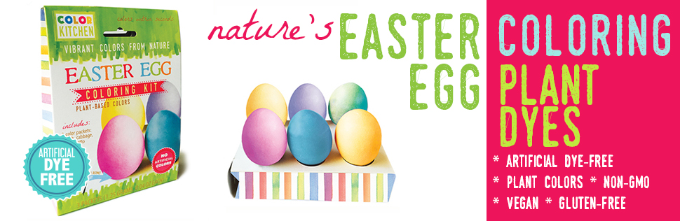 Amazon.com : Natural Easter Egg Coloring Kit by ColorKitchen ...