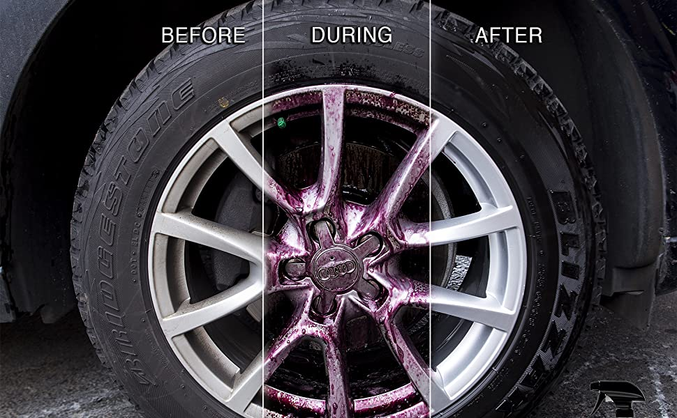 before during after wheel cleaner adams polishes the best wheel cleaner on the market winter