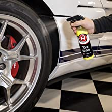 spray on tire for shine
