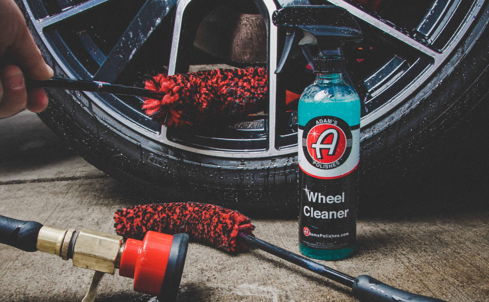 Adam's Wheel Cleaner Tire Shine Rubber Cleaner Chemical Guys Trucks BMW Auto Parts Glass Kits Wash