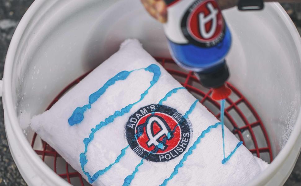 Adam's Polishes Car Shampoo Cleaning Supplies Detailing Detail Wash Car Wash Soap Foam Bucket Sponge