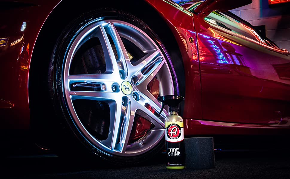 Ferrari tire shine Adams polishes car care premium