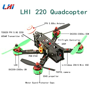 woafly LHI 220 Quadcopter Kit Full Carbon Frame Kit+DX2205 2300KV Brushless  Motor+ Littlebee 20A Mini ESC+5045 propeller ARF - LHI Shop