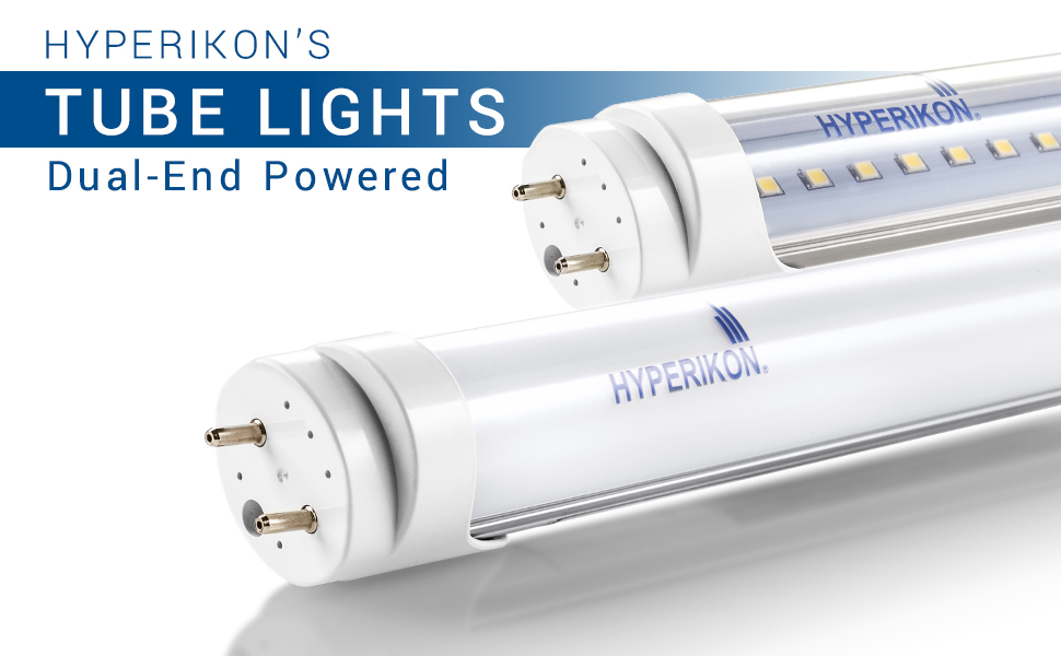 Clear Single End Ballast Bypass UL Renewed T10 T12 Light Tube 3000K 18W Hyperikon T8 4 Foot LED Bulbs 4 Pack 40 Watt Replacement DLC
