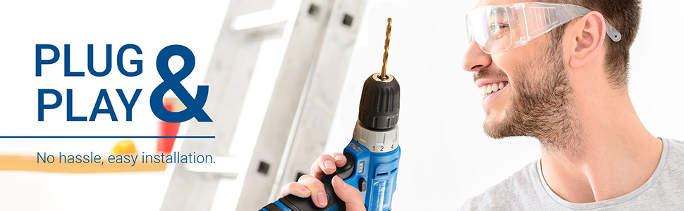 plug and play, easy, hassle-free installation