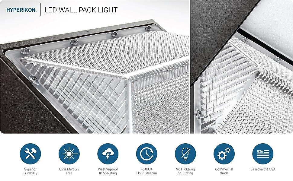 Hyperikon 45w Led Wall Pack Fixture 250 300w Hps Hid