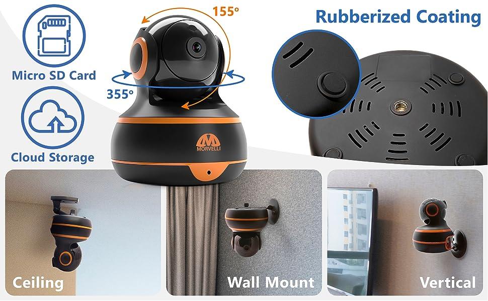 mounting, types of installation, camera Morvelli, mounting wall, mounting ceiling, smart camera