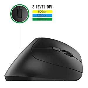 2.4G Wireless Vertical Ergonomic Optical Mouse