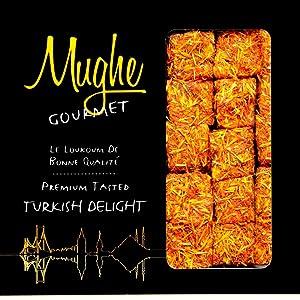 saffron turkish delight delights gift box pistachio pomegranate flavor pistachios mughe gourmet