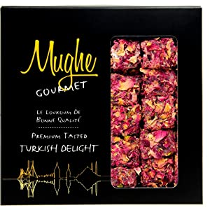 rose petal turkish delight delights gift box pistachio pomengrande flavor pistachios mughe gourmet