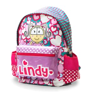 Amazon.com  Lindy Hearts And Dots Shinny School Backpack for Girls ... b167e56971648
