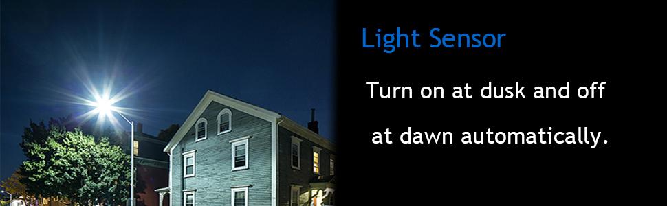 15w solar led street light with light sensor