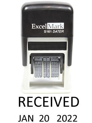 Amazon.com: ExcelMark - Sello de fecha recibida (tamaño ...