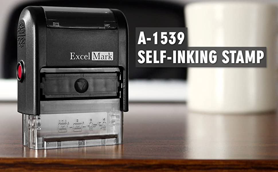 ExcelMark A1539 Self-Inking Custom 1-Line Stamp