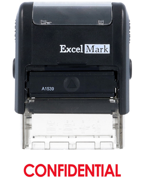 CONFIDENTIAL - ExcelMark A1539 Self-Inking Stamp - Red Ink