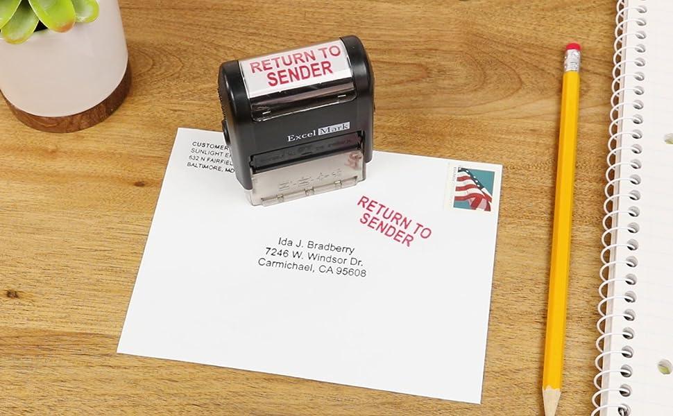 Return To Sender Self Inking Rubber Stamp Red Ink