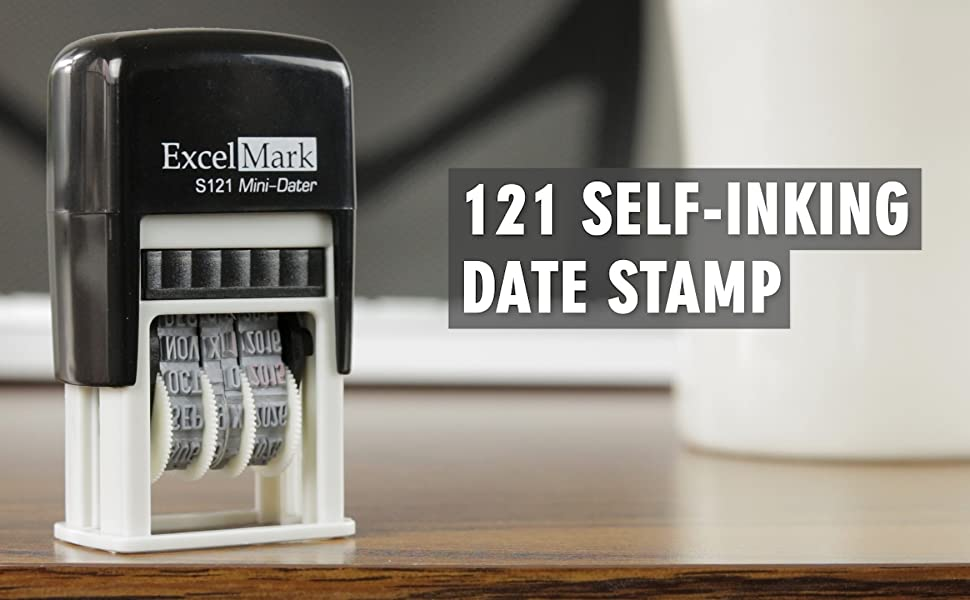 ExcelMark S121 Self-Inking Date Stamp