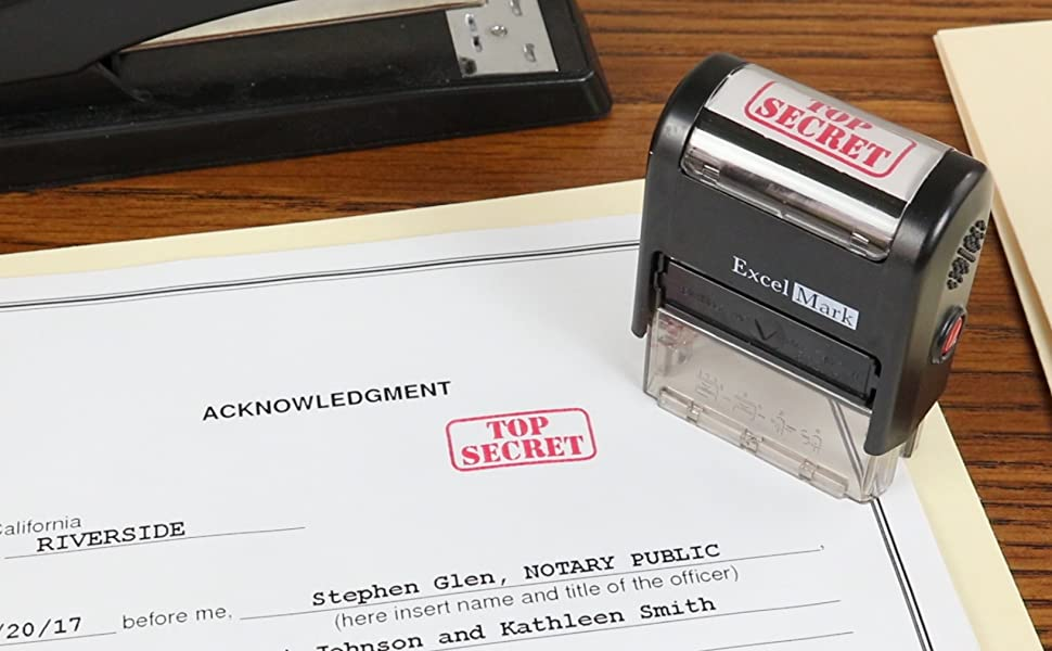 Amazon TOP SECRET Self Inking Rubber Stamp