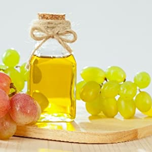 Grapeseed oil is light so it doesn't leave the skin with a heavy, greasy feeling