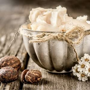 Shea Butter -  softens and strengthens skin as well as helps with wrinkle reduction