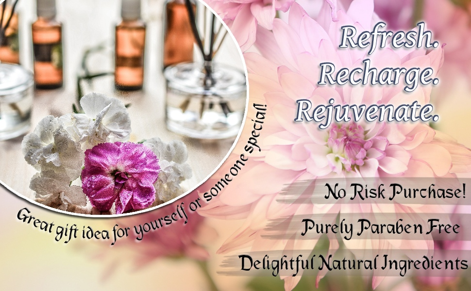 Refresh. Recharge. Rejuvenate. All natural ingredients, paraben free and no risk purchase!