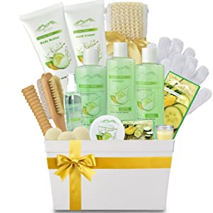 cucumber melon spa basket, for her, the perfect gift!
