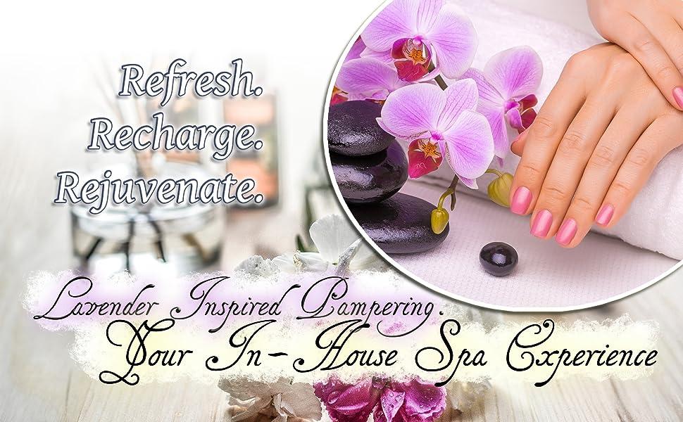 Refresh, recharge and rejuvenate with Purelis' Natural lavender inspired pampering gift basket
