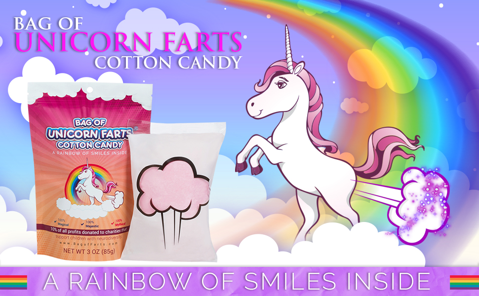 Bag of Unicorn Farts Cotton Candy