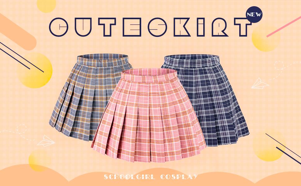 Plaid skirt high waist japan skirt A-Line tartan mini skirt for juniors girls women schoolgirl