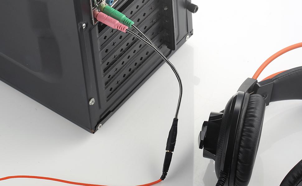 y splitter mic and audio