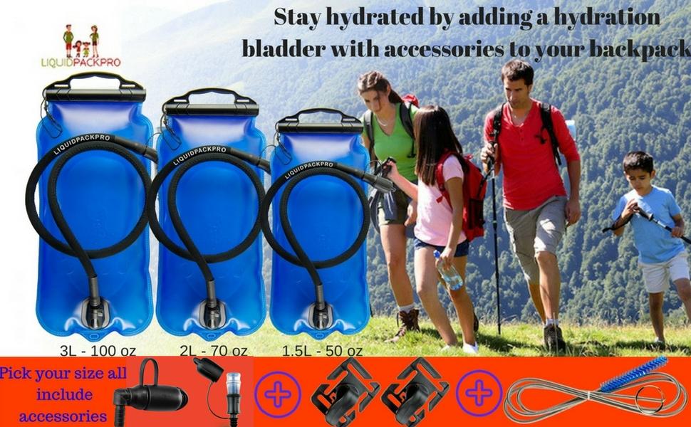Amazon.com: LIQUIDPACKPRO - Bolsa de agua para mochila, 1,5 ...