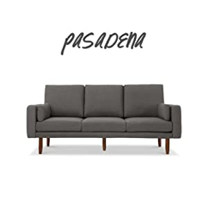 Pasadena Mid Century Sofa with USB Ports