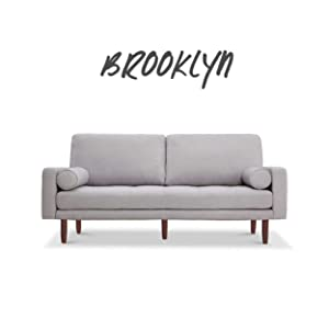 Brooklyn Mid Century Sofa with USB Ports