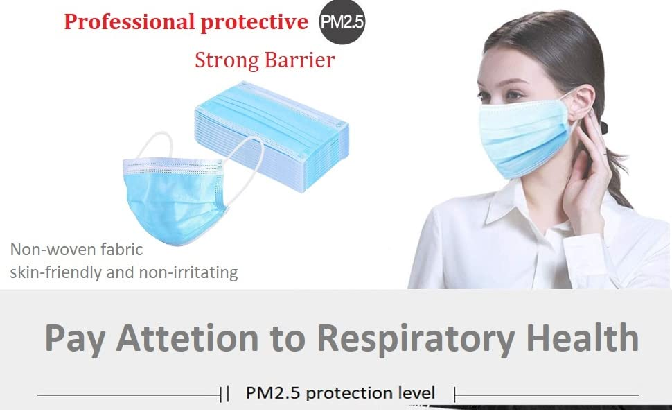 Friendly Disposable Mask Face 3 Layer Non-woven Fabric Anti Fog Pm2.5 Dust-proof Breathable Medical Sn-hot The Latest Fashion Beauty & Health