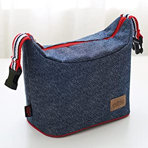 Amazon.com - Rayhee Lunch Bag Insulated Lunch Cooler Bags Reusable ... 268bf4daab630