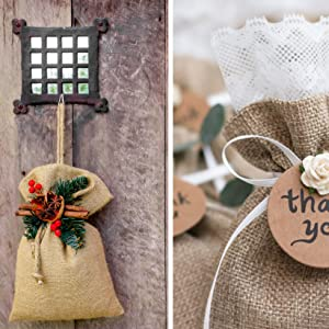 Burlap Drawstring Bags small Gift pounch for christmas holiday wedding favor jewelry soap cand