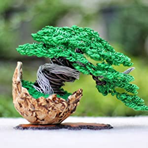 Sculpture Sculpting Bonzai Tree made from Aluminum Wire
