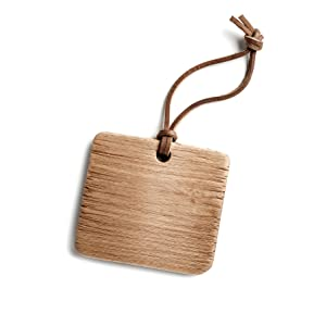 Bookmark Tag made from Flat genuine real cowhide leather cord