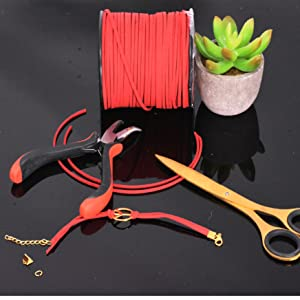 Mandala Crafts Micro Fiber Faux Suede Leather Cord Jewelry Making